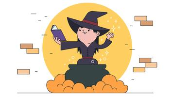 Witch Spell Vector