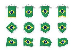 Brasil Flaggor Clipart