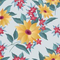 Blommor sömlöst stilfullt mönster. Vårblomma bakgrund