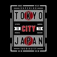 tokyo japan typography design for t shirt