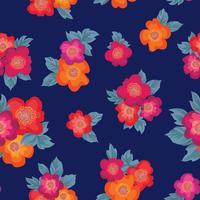 Patrón floral sin fisuras Fondo de la flor. Adorno de jardín