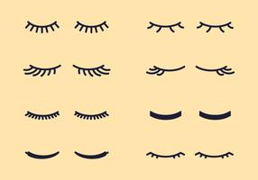Simple Eyelashes Clipart Set