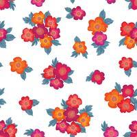 Motivo floreale senza soluzione di continuità. Sfondo di fiori Ornamento del giardino