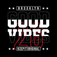 brooklyn good vibes, t-shirt di design per t-shirt