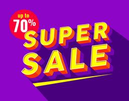 Super Sale Typography vector