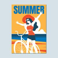 Retro poster on a Summer Beach