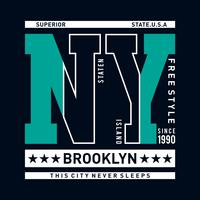 Freier Stil New York City Typografieentwurfs-T-Shirt