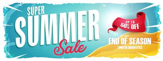 Summer Holiday Sale Wide Banner vector