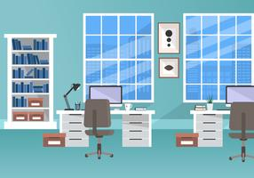 Office In Flat Style