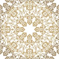 Arabisk blommig virvellinje prydnad. Oriental blomma sömlöst mönster