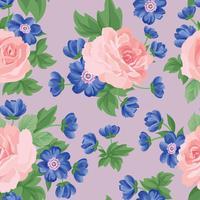 Motivo floreale senza soluzione di continuità. Sfondo di fiori Trama del giardino