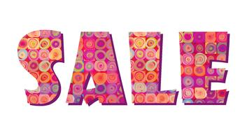 Sale banner. Big summer sale sign over white background