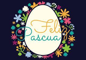 Typographie Feliz Pascua vecteur