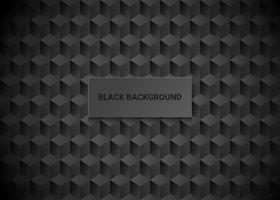 Sfondo nero geometrico