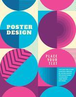 Design de cartaz geométrico
