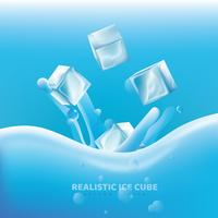 Realistic Ice Cube Vector Design