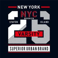 New York City typography graphic art