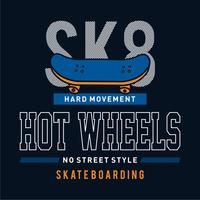 Skate boarding typography, tee shirt graphics