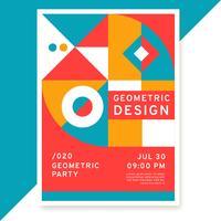 Diseño del cartel geométrico vector