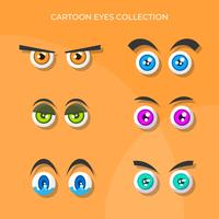 Flat Cute Cartoon Eyes Vector-collectie