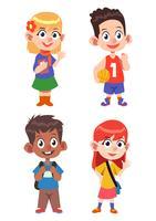 Set di caratteri di bambini carino