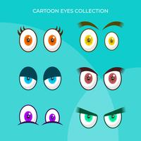 Flat Colourful Cartoon Eyes Vector Collection