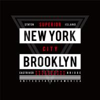 Typografieontwerp New York City, grafisch T-shirt