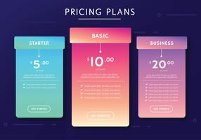Pricing Plans Vector Design