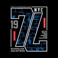 Tipografia Design New York City, grafica t-shirt