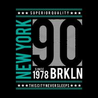 design tipografia brooklyn per t-shirt