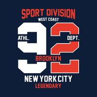 brooklyn west coast, design di stampa per t-shirt e altri usi