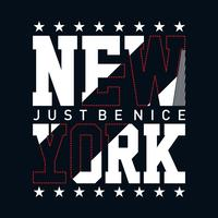 New York City typografi design för utslagsplats t-shirt