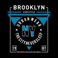Design de tipografia de estilo de vida de Nova York
