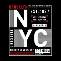 Typographie Design New York City, Graphique T-shirt,