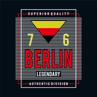 berlin legendary city typography design tee for t shirt