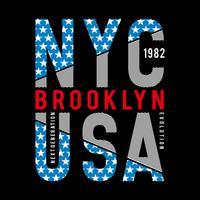 Tipografía de la ciudad de Nueva York para camiseta estampada