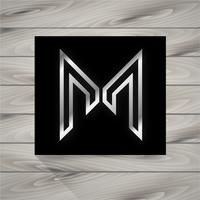 lettre concept m logo