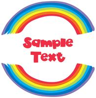 Sample text with rainbow background vector