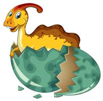 Dinosaur in grey egg