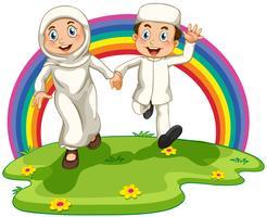 Casal muçulmano