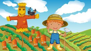 Un granjero vector