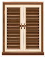 Window design with brown frame