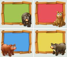 Frame ontwerp met wilde dieren