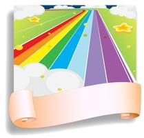 Um modelo vazio na frente da estrada colorida