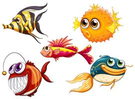 A group of sea creatures