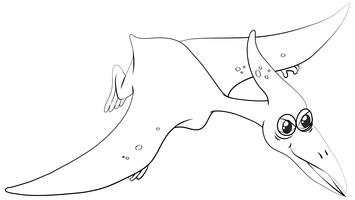 Animal outline for pterosaur