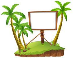 Board template on island vector