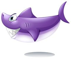 Un grand requin souriant