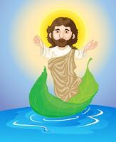 jesus floating