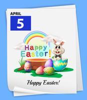 Un calendario del 5 aprile